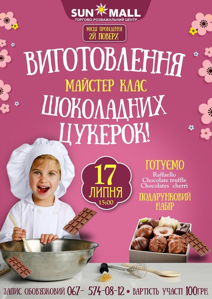 мастер-класс по изготовлению шоколадных конфет